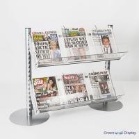 Queue Management Newspaper Shelf