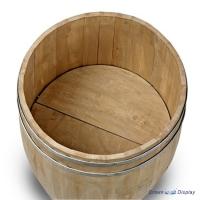 Large Wooden Display Barrel