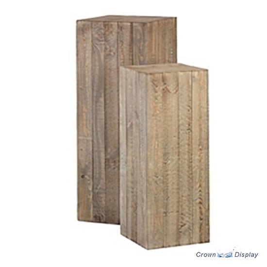 Set of 4 wooden display box Stand retail display cube handmade display plinth