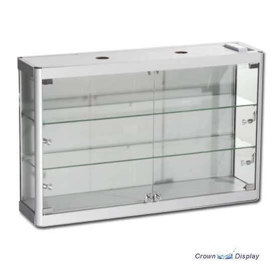 Aluminium Wall Mounted Showcase with lighting