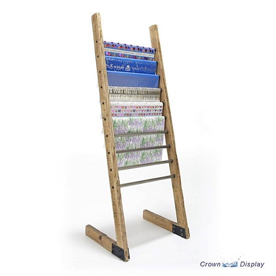 Rustic Gift Wrap Ladder