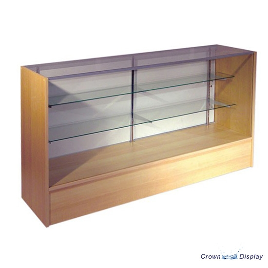 Glass Fronted Counter with solid/glass top