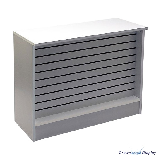 Recessed Slatted Front Counter