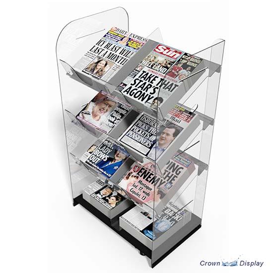 Double Acrylic News Unit (8 titles)