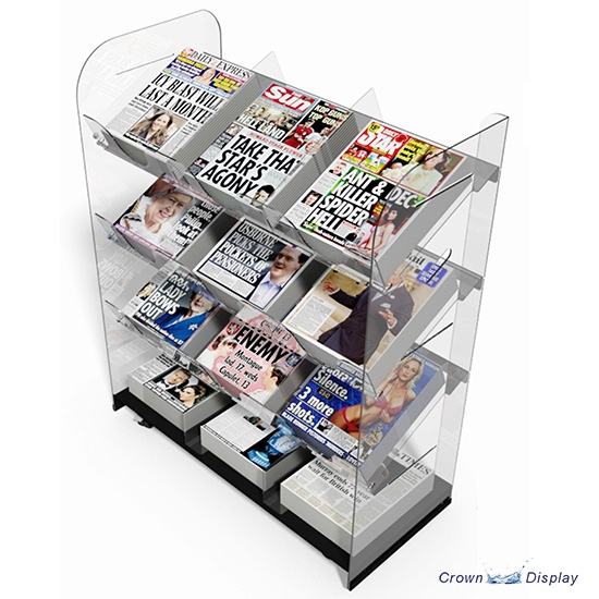 Triple Acrylic News Unit (12 titles)