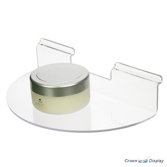 Acrylic semi-circular shelf