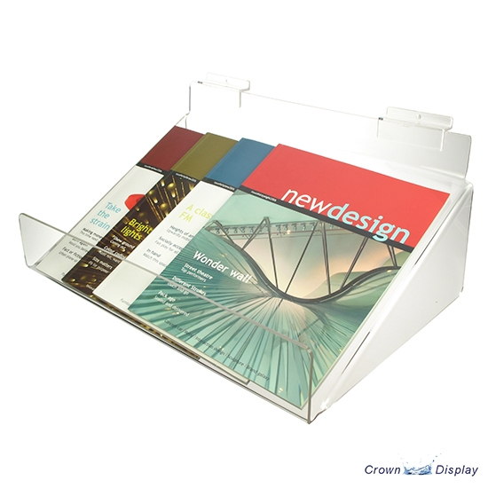 Acrylic Sloping Shelf with extra support