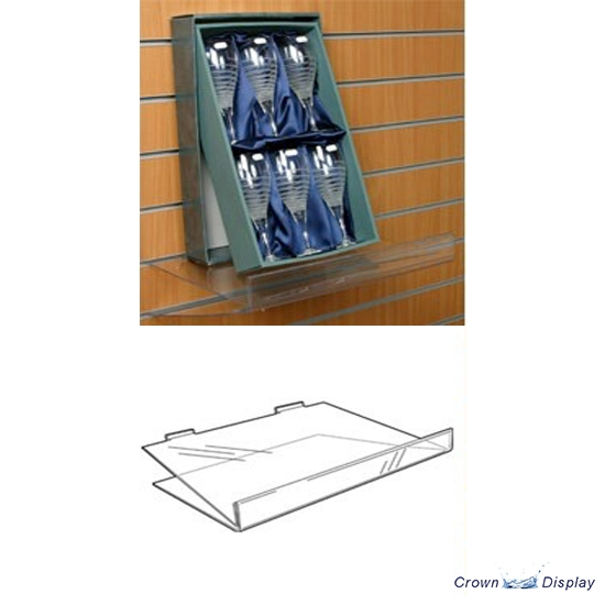 Angled Shelf with Price Holder