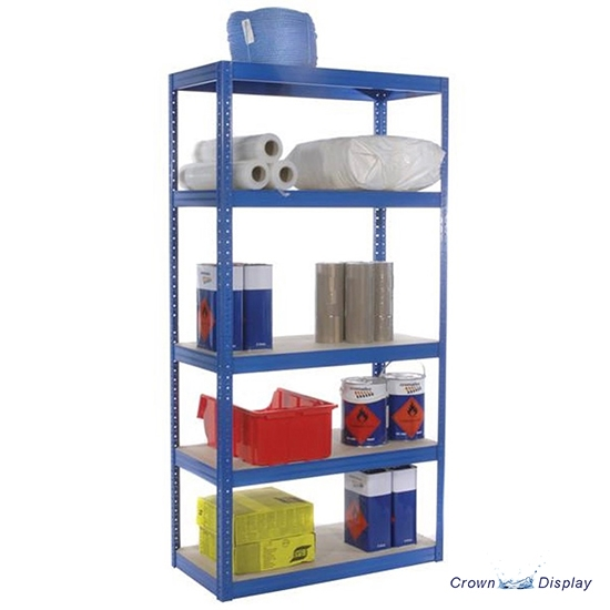 Pop-up Blue Shelving Unit