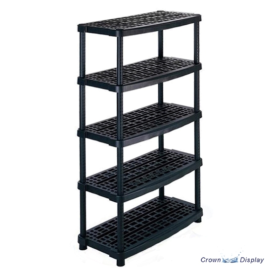Heavy Duty Black Plastic Ventilated Shelving Unit