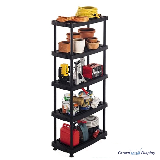 Black Plastic Ventilated Shelving Unit