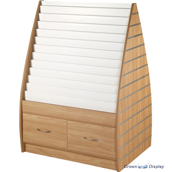 Double Sided Card Unit with Slatted Ends