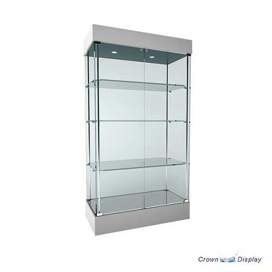 Wide Frameless Showcase with lighting