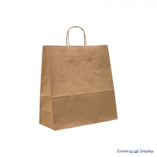 Brown Strong Kraft Paper Bag with optional Logo (pack of 50)