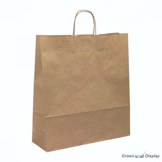 Brown Ribbed Paper Bag (pack of 50)
