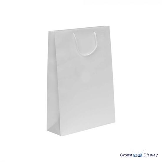 White Deluxe Paper Carrier Bag (pack of 50)
