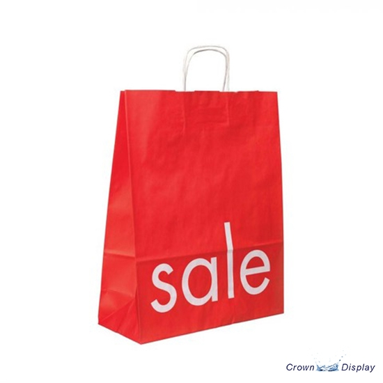 Red Sale Paper Carrier Bag (pack of 50)