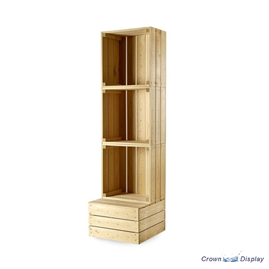 Freestanding crate display unit
