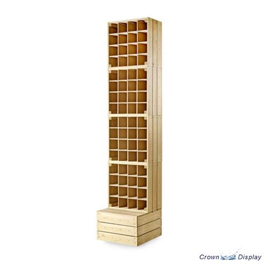 Rustic Crate Wine Display Unit