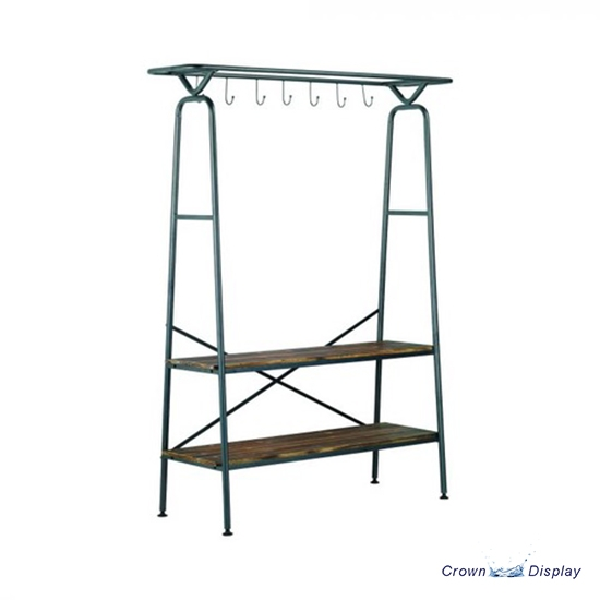 Industrial Style Coat and Shelf Stand