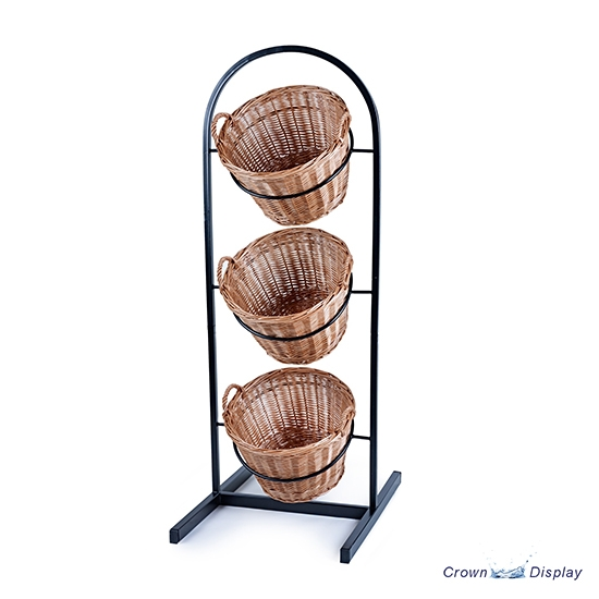 Rustic 3 Tier Metal Basket display stand