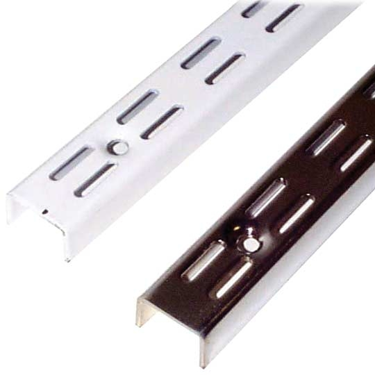 Slotted Wall Channel 2.39m Chrome (2240110)