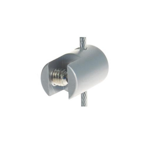 Satin Vertical Cable Clip to hold panels up to 4mm (6221013)