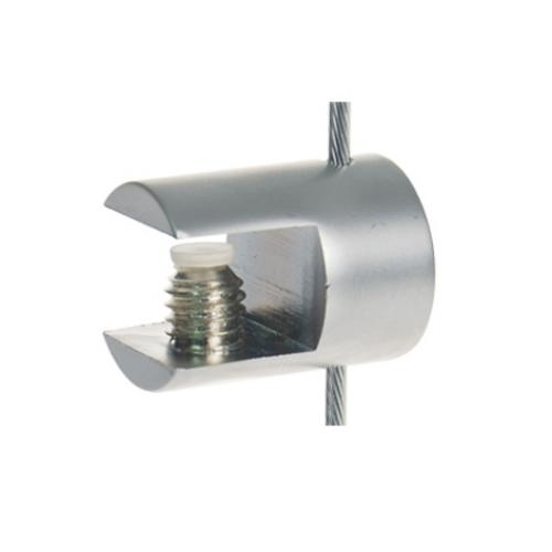 Satin Horizontal Cable Clip to hold shelves up to 8mm (6221413)