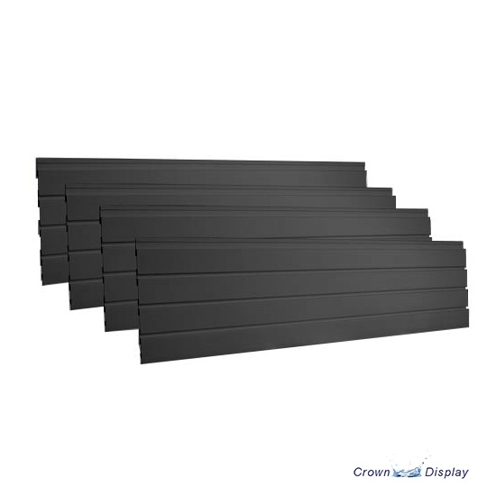 Black Plastic Interlocking Slatwall Kit