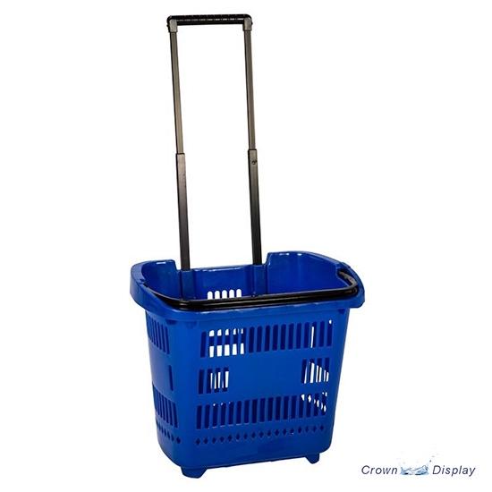 Basket Trolley with Telescopic Handle