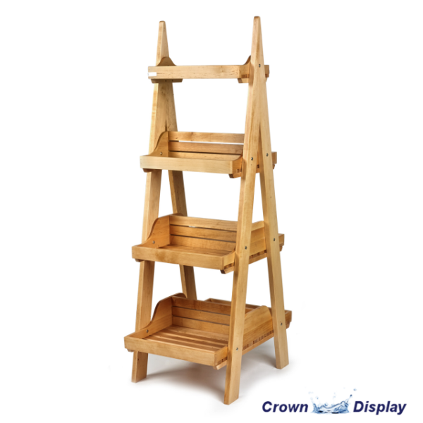 Rustic Double Sided 4 Tier Display Stand