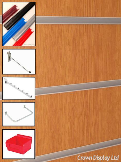 Woodgrain Slatwall Pack