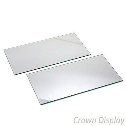 Glass Shelves 600mm wide for slatwall (pack of 4 shelves)