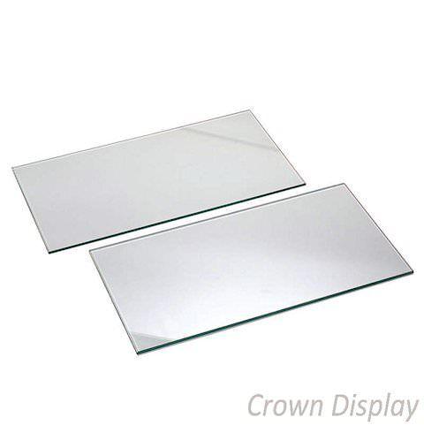 glass shelves 600mm wide for slatwall pack of 4 shelves
