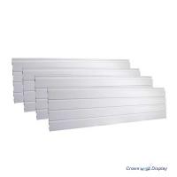 White Plastic Interlocking Slatwall Kit
